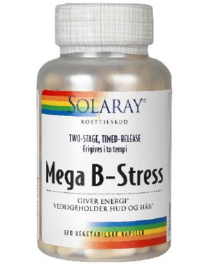 Solaray Mega B-Stress • 120 kapsler