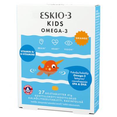 Midsona Eskio-3 Kids Chewable Gelétabletter m. appelsinsmag
