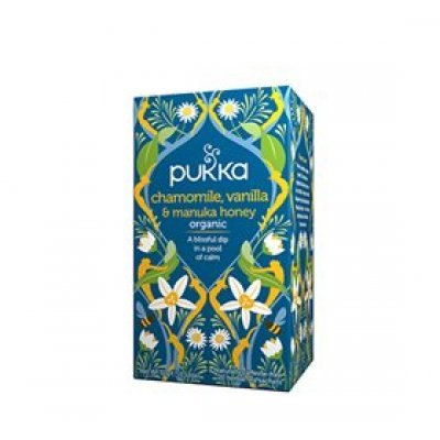 Pukka Chamomile te Ø m. Vanilla & Manuka Honey • 20 br.
