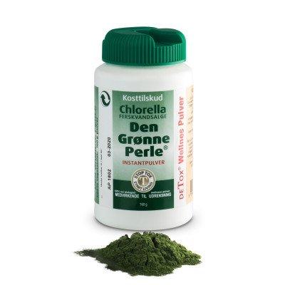 Chlorella - Den Grønne Perle pulver 160 g.