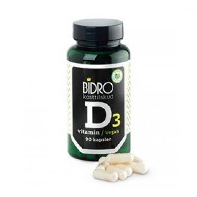 Bidro D3-Vitamin Vegan • 90 kap.
