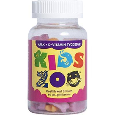 Kids Zoo Kalk + D-vitamin • 60 stk.
