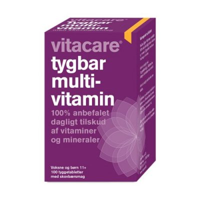 VitaCare Tygbar Multivitamin til voksne (11+) • 100 tab.