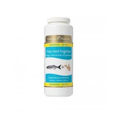 Fitness Pharma Fisk m. ingefær • 180 kap.