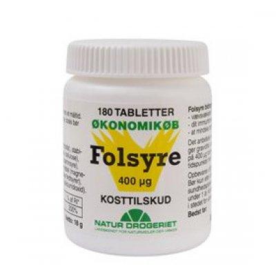 Folsyre (B9) 400 ug 180 tabl.