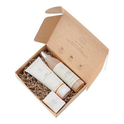 Naturfarm gaveæske m. Amber Face Cream Face/Body Scrub GRATIS Shampoo