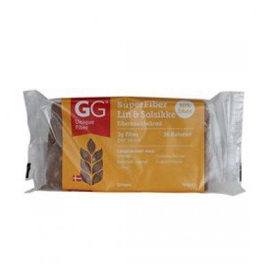 GG Superfiber hør & solsikkefrø knækbrød • 100g.