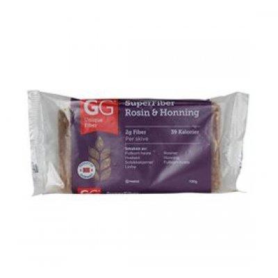 GG Superfiber rosin & honning knækbrød • 100g.
