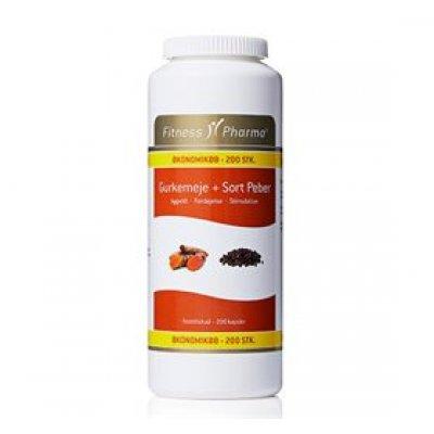 Fitness Pharma Gurkemeje & Sort Peber • 200 kap.