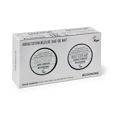 Ecooking hudplejesæt m. dag- og natcreme 2x 15 ml.