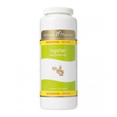 Fitness Pharma Ingefær m. gurkemeje • 250 tab.
