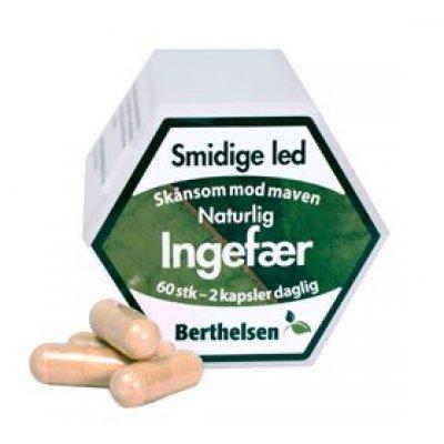 Berthelsen Ingefær Ren • 60 kap.