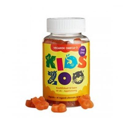 Kids Zoo Vegansk Omega-3 Algeolie 60 stk