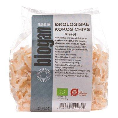 Biogan Kokoschips Ristet Ø