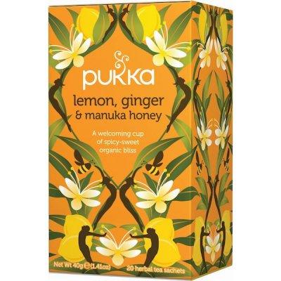 Pukka Lemon, Ginger & Manuka te • 20 breve