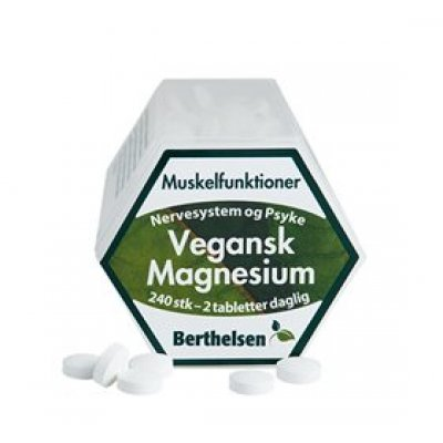 Berthelsen Magnesium Vegansk • 240 tabl.