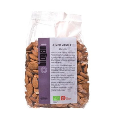 Biogan Jumbo mandler Ø - 500 g