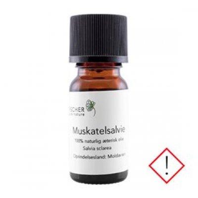 Fischer Pure Nature Muskatelsalvieolie æterisk • 10ml.