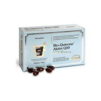 Bio-Quinone Aktivt Q10 Gold 100 mg-180 kapsler