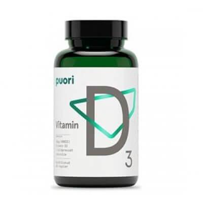 Puori Vitamin D3 10mcg i kokosolie • 60 kap.