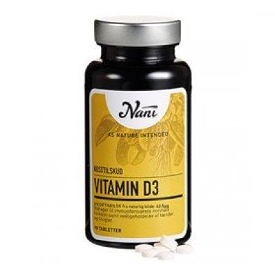 Nani Vitamin D3 vegetabilsk • 90 tab.