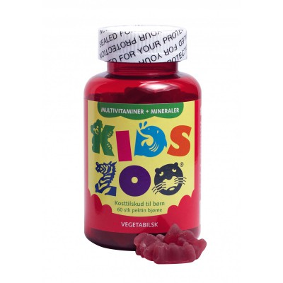 Kids Zoo Multivitamin + Mineraler • 60 stk.