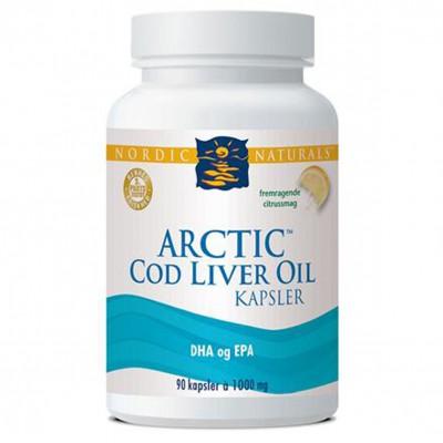 Nordic Naturals Arctic Cod Liver Oil m. citrus • 180 kap.