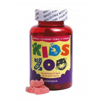 Kids Zoo Propolis + Hyldebær + Hyben + C • 60 stk.
