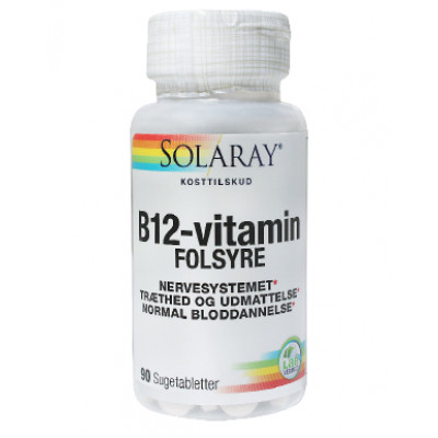 Solaray B12-vitamin m. Folsyre