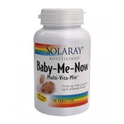 Solaray Baby Me Now Multivitamin • 90 tab.