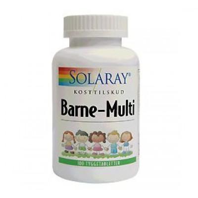 Solaray Barne-Multi tyggevit. børn • 100 tab.