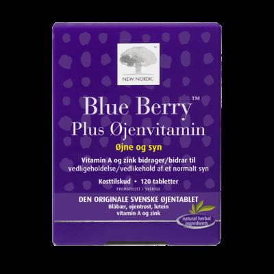 New Nordic Blue Berry Plus Øjenvitamin • 120 tabl.