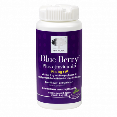 New Nordic Blue Berry Plus Øjenvitamin • 240 tabl.