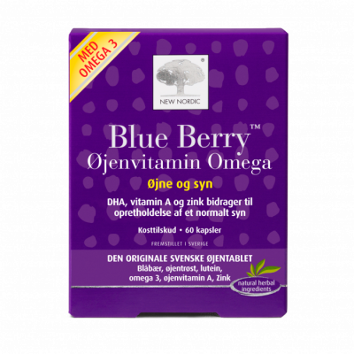 New Nordic Blue Berry Omega 3 • 60 kaps.
