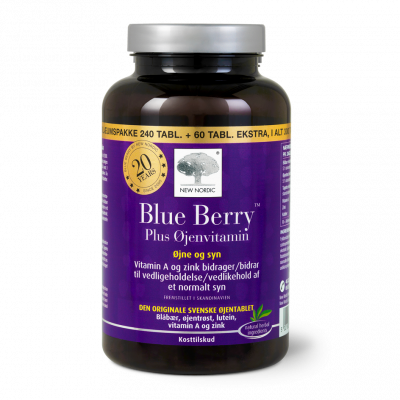 Blue Berry Plus Øjenvitamin - Special edition 300 tabletter