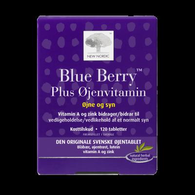 New Nordic Blue Berry plus øjenvitamin 120 tabl. - Datovare