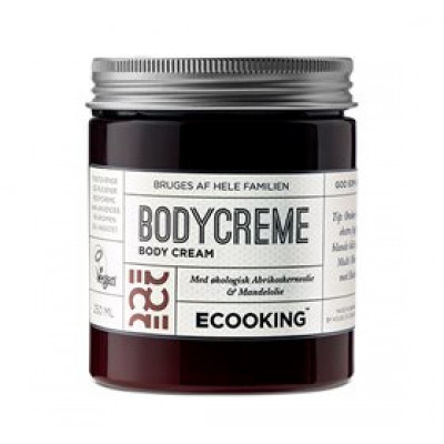 Ecooking Bodycreme m. abrikosolie og mandelolie • 250ml.