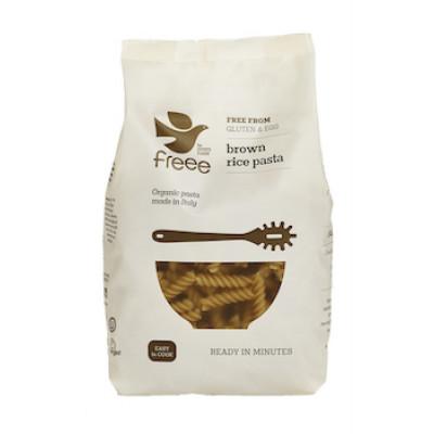 Brun Ris Fusilli Pasta glutenfri Ø • 500 g.