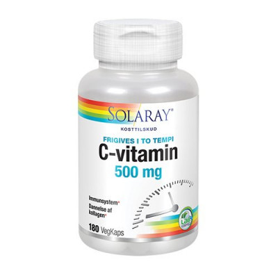 Solaray C-vitamin 500 mg 180 kapsler