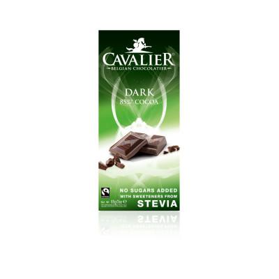 Coala Chokolade Mørk 85% kakao m. Stevia • 85 g.