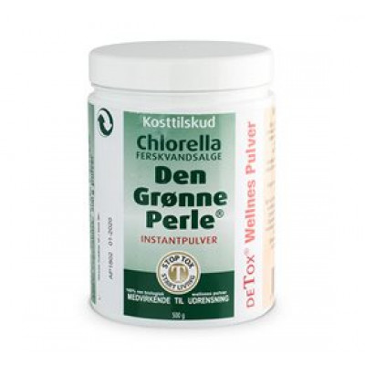 Chlorella - Den Grønne Perle pulver 500 g.