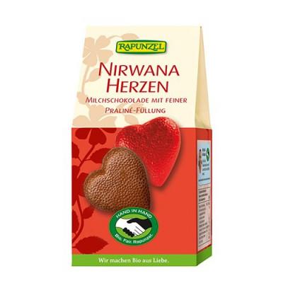 Chokoladehjerter m.praline Ø
