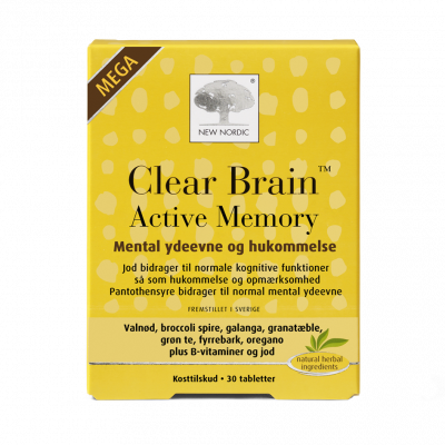 New Nordic Clear Brain Active Memory • 30 tabletter