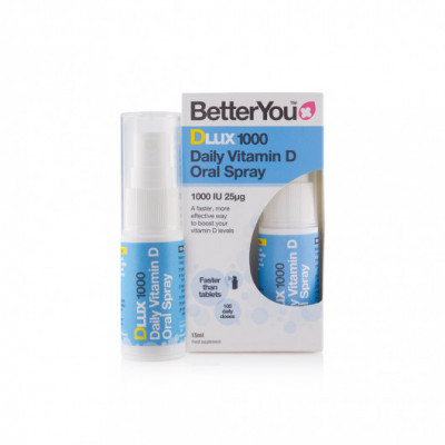 BetterYou Dlux 1000 - 25 mcg D3 Vitamin oral spray