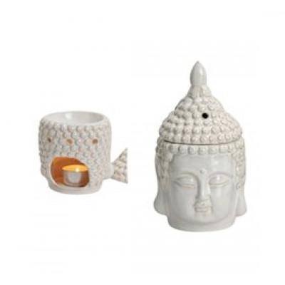 Fischer Pure Nature Duftlampe Buddha Hvid • 1 stk.