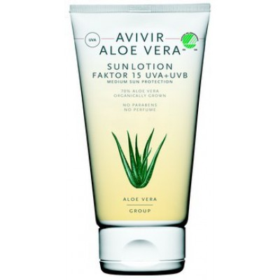 Avivir Aloe Vera Sun Lotion SPF 15 • 150 ml.