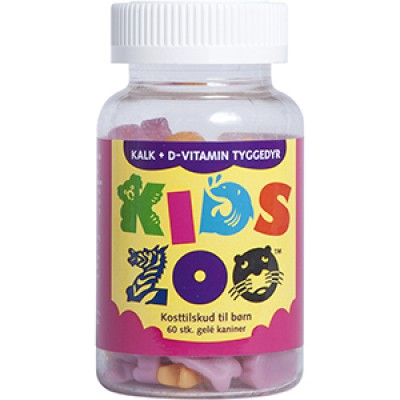 Kids Zoo Kalk + D-vitamin • 60 stk.