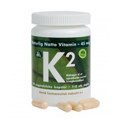DFI K2 vitamin 45 mcg naturlig natto • 60 kap.