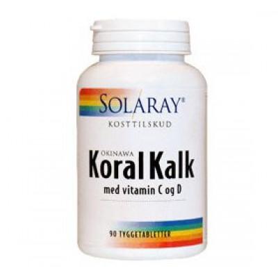 Solaray KoralKalk med vit. C og D tyggetablet • 90 tab.