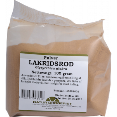 ND Lakridsrodspulver • 100 g.